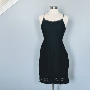 Old Navy Black Scallop Lace Dress